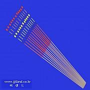 투광일체형 실리콘방울찌톱(B)|0.7 x 1.5mm x 30,35,40cm